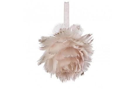 Sebastian Suite elige esta bola de navidad de plumas para nuestro árbol