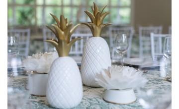 Sebastian suite nos seduce con estas piñas blancas y doradas