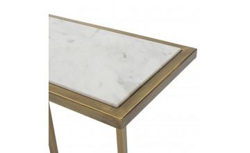 69562/00 - Consola Adams en color blanco / dorado.